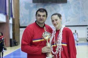 Dan Ionescu și viitorul căpitan al lui BCM Danzio, Adina Stoiedin