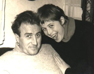 """""""Bupsi"""" Novak, în 1970,alături de fiica lui, Nora."""